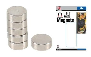 Magneetset extra sterk diameter 8 mm 6-dlg