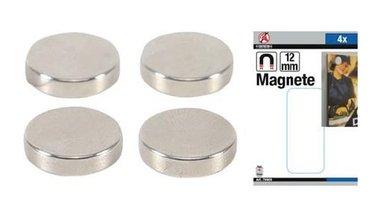 Magneetset extra sterk diameter 12 mm 4-dlg