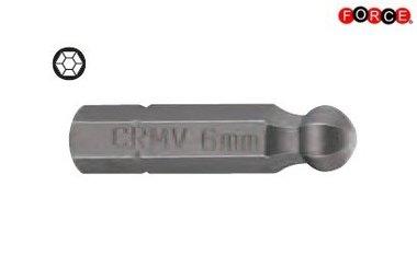 Inbus bolkop bit 1/4 -30mmL 6mm
