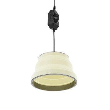 Hanglamp LED opvouwbaar silicone wit diameter 20cm