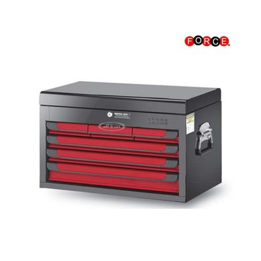 Glory red & black 6-drawer top chestt (glossy paint)