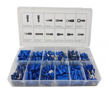 Kabelverbinders blauw 280-delig