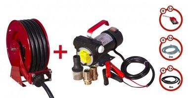 Diesel pomp 24V +oprolhaspel + pompenset