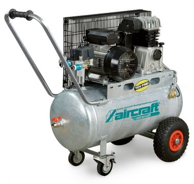 Riemaangedreven olie compressor verzinkte ketel 10 bar - 50 liter