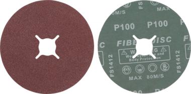 Fiber-schuurschijfset | korrel 100 | aluminiumoxide | 10-dlg