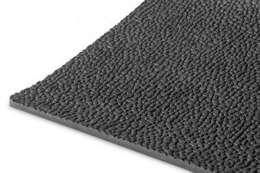 Rubber op rol 10m x 1200mm x 3mm rijstkorrel zwart