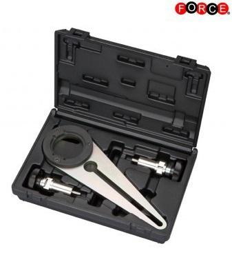 Crankshaft pulley holder for BMW N47/N57