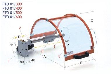 Beschermkap voor klauwplaat 300mm